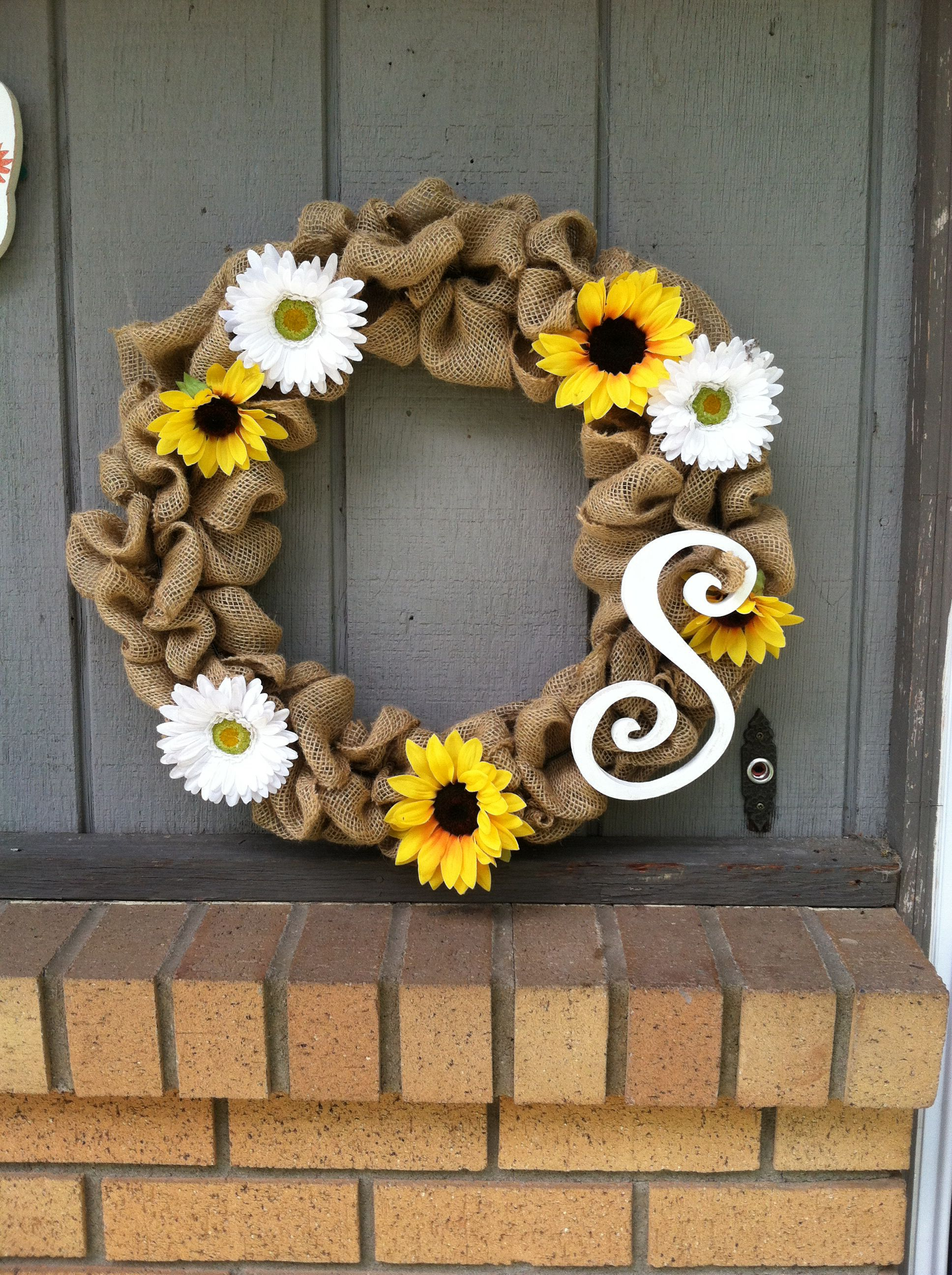 Mother's Day burlap wreath (Sargents)