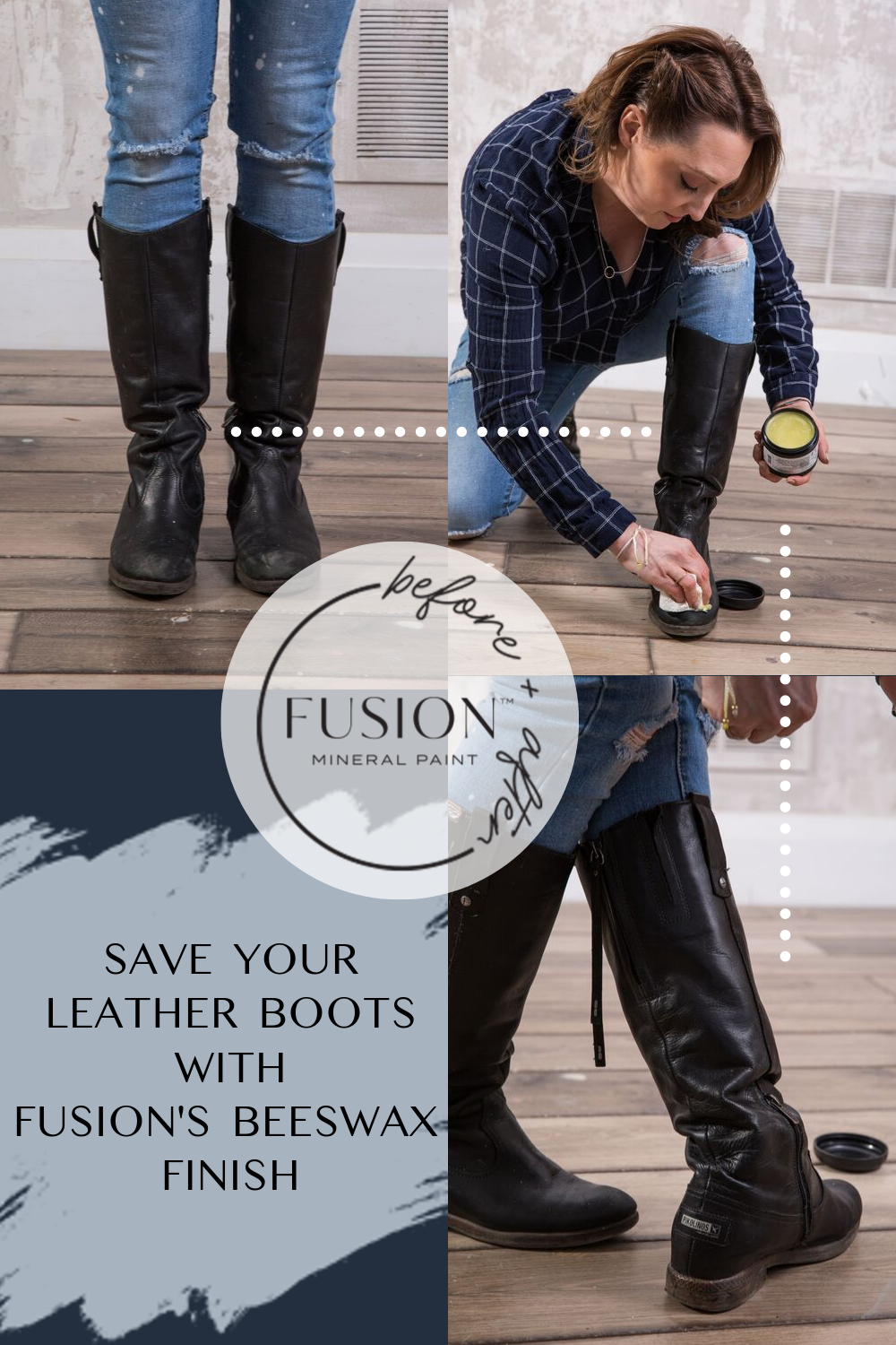 How To Refresh Your Leather Boots With Beeswax In 2020 Leather Boots Mineral Paint Painting Leather