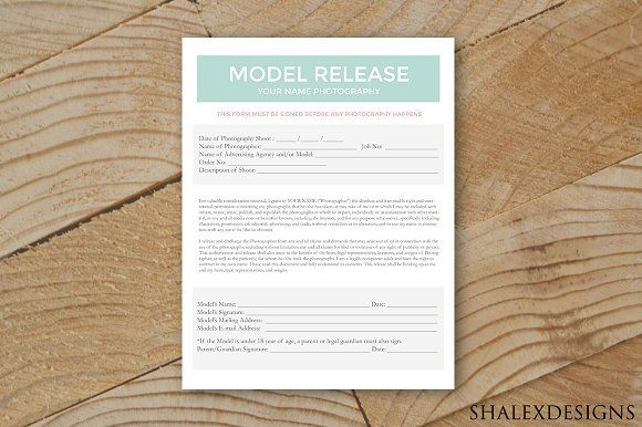 Model Release Form Template By Shalexdesigns On Creativemarket