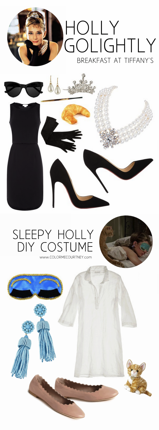 easy diy halloween costumes holly golightly from breakfast at tiffany 39 s audrey hepburn. Black Bedroom Furniture Sets. Home Design Ideas