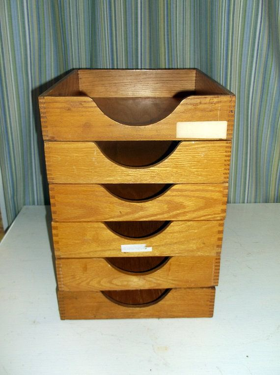 vintage wooden letter trays desk organizers in out box for desktop office supplies dovetailed