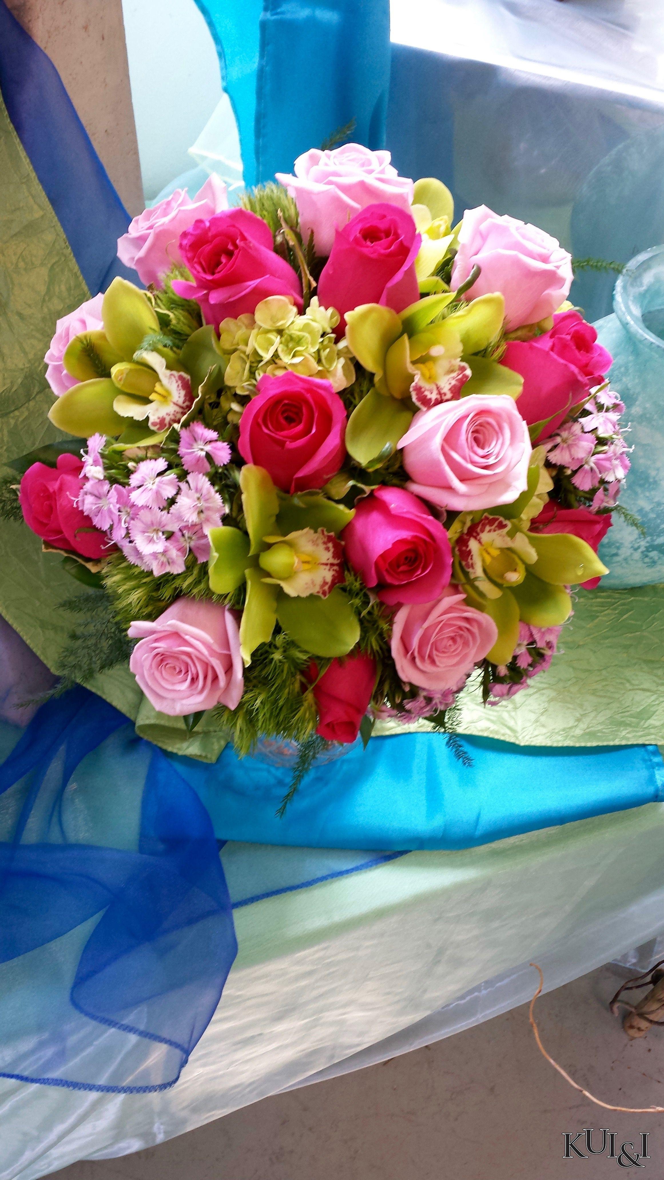 Colorful Wedding Bouquet Kui I Florist Llc Hilo Hawaii