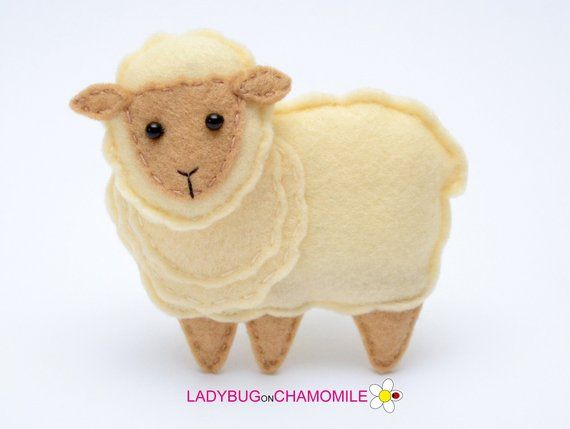 Felt Sheep Stuffed Magnet Or Ornament Toy