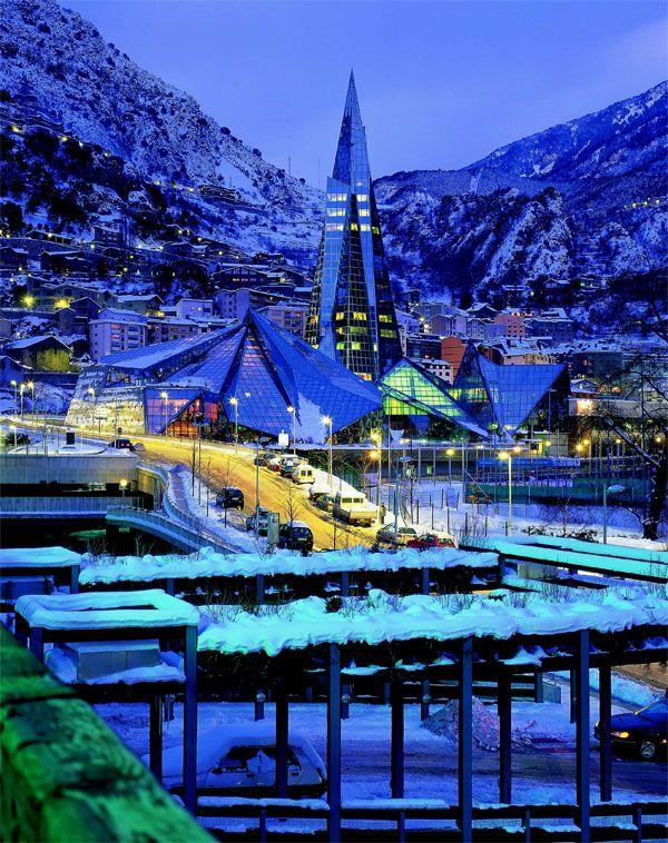 Caldea Spa Andorra La Vella Snowzine Com Ciudades De Europa