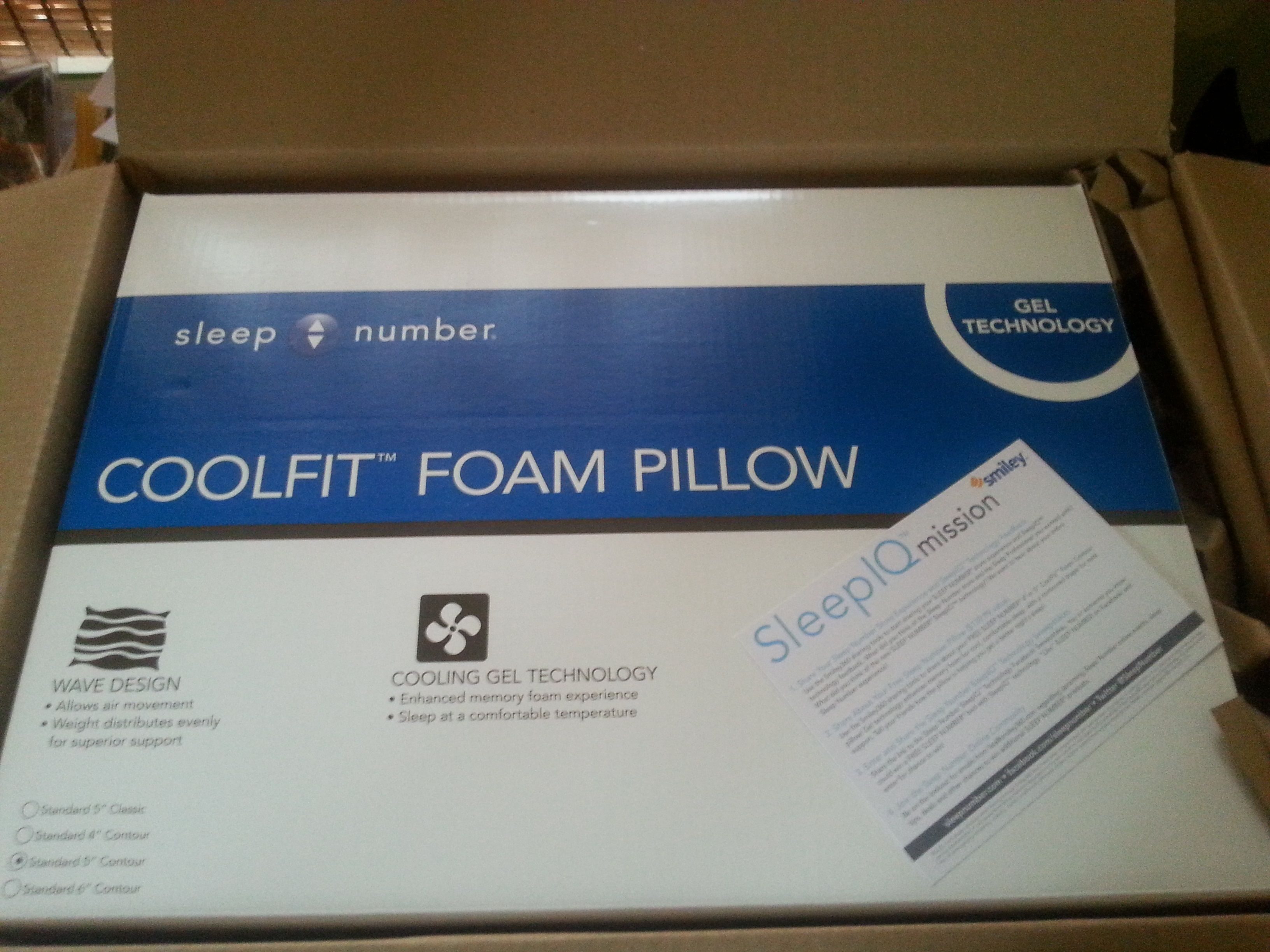 Sleep Number Coolfit Contour Pillow That I Received For Free For