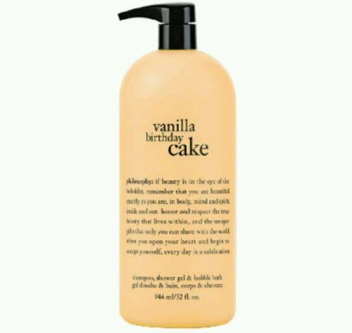 Bath And Body 11838 New Pump Philosophy Vanilla Birthday Cake Shampoo Shower Gel Bubble
