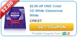 photograph regarding Crest White Strips Printable Coupon titled $2.00 off A single Crest 3D White Glamorous White #coupon