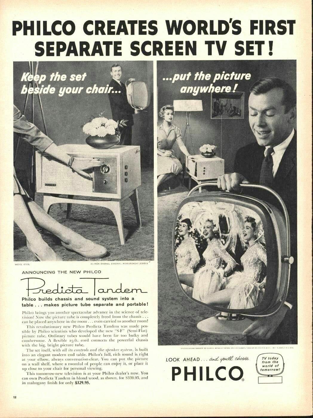 Philco Predicta Tandem advert from Life magazine, Oct. 20