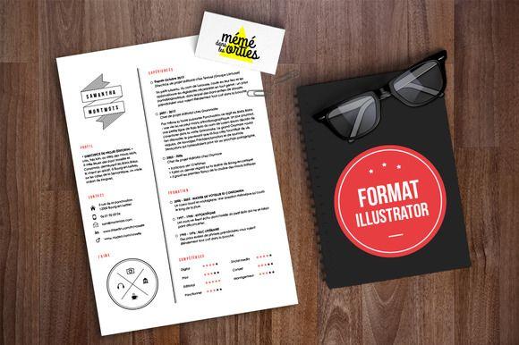 Montmots - Resume template Illustrat by @Graphicsauthor Resume CV