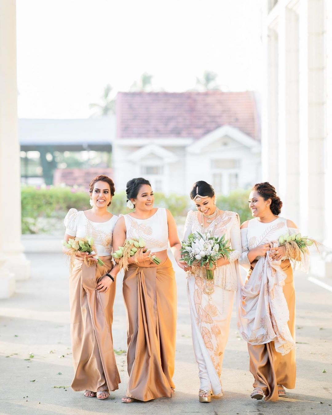Beautiful Sri Lankan Bridesmaids In 2020 Bridesmaid Wedding Bridesmaids Bride