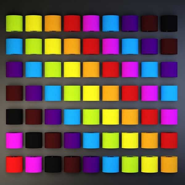 Is It A Colourful Artwork Or A Paint Chart No It S Toilet Paper Shayanddean Used The Black Version In All The Paint Charts Colored Toilets Luxury Paper