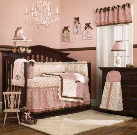 Pink/Brown baby girl bedding - Amazon | Girl nursery bedding ...