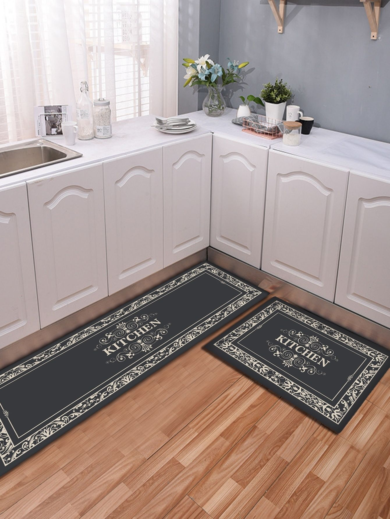 Letter Print Non Slip Kitchen Mat 1pc Check Out This Letter Print Non Slip Kitchen Mat 1pc On Shein And Explor In 2020 Kitchen Mat Printed Floor Mat Kitchen Mats Floor