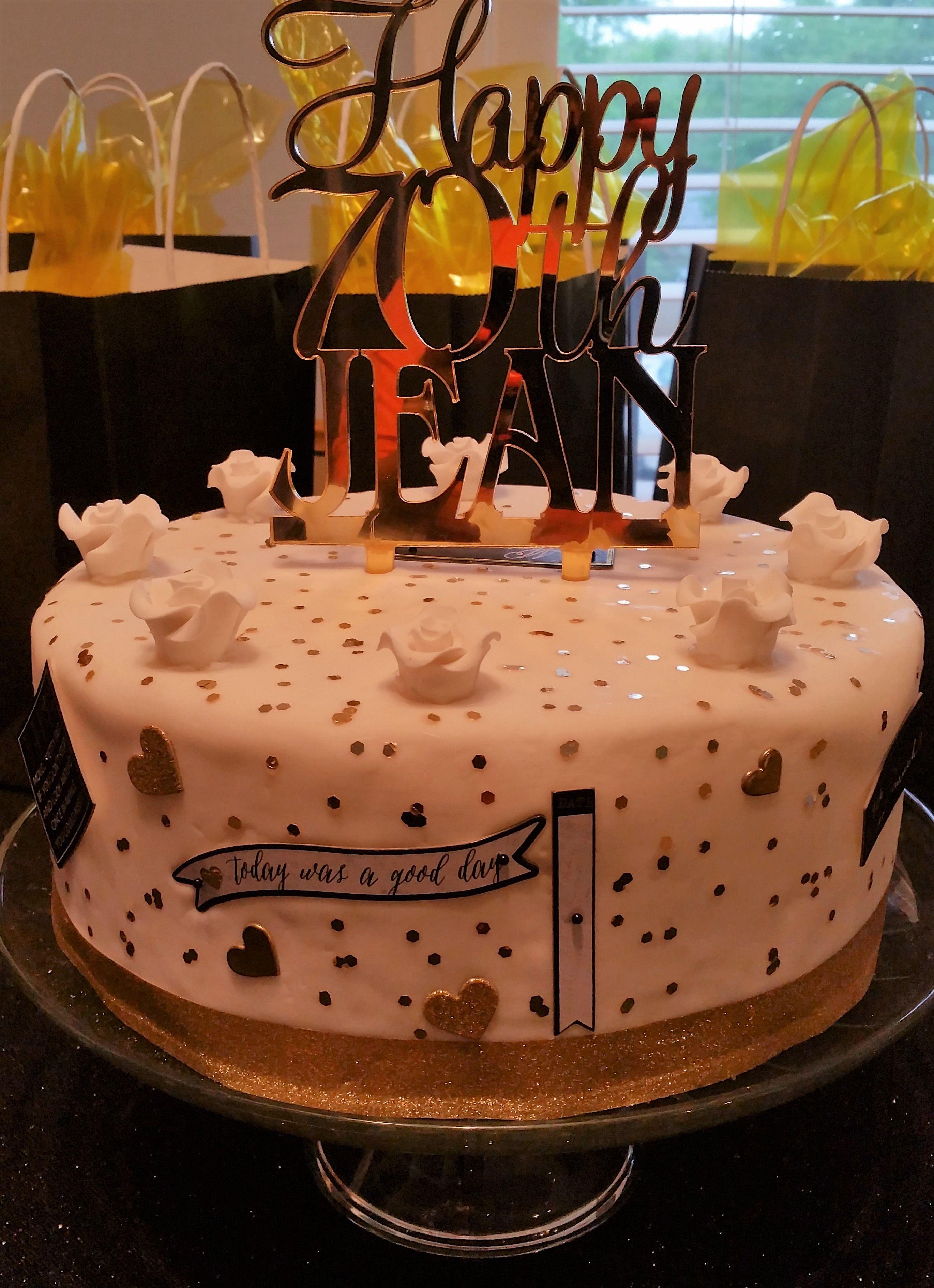 Candle Sweetie Designer Cake 70th Birthday