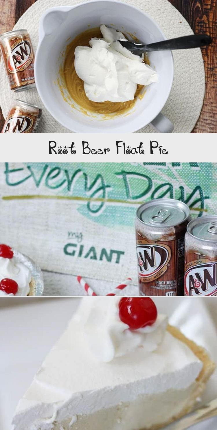 Root Beer Float Pie #rootbeerfloat This Root Beer Float Pie recipe is the perfect no-bake dessert for a family night! Shortbread crust with vanilla pudding, A&W® Root Beer, whipped cream, and cherries! #rootbeer #pie #nobake #dessert #recipe #DessertRecipesThanksgiving #JelloDessertRecipes #LemonDessertRecipes #FrenchDessertRecipes #CreativeDessertRecipes #rootbeerfloat