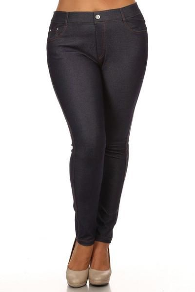 bd5708df206 Women s Classic Solid Skinny Jeggings - Navy - Plus Size in 2019 ...