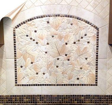 Decorative Ceramic Tiles Kitchen Adorable Timeless Neutral Elegant Leaf Mosaic Tile Kitchen Backsplash Design Inspiration
