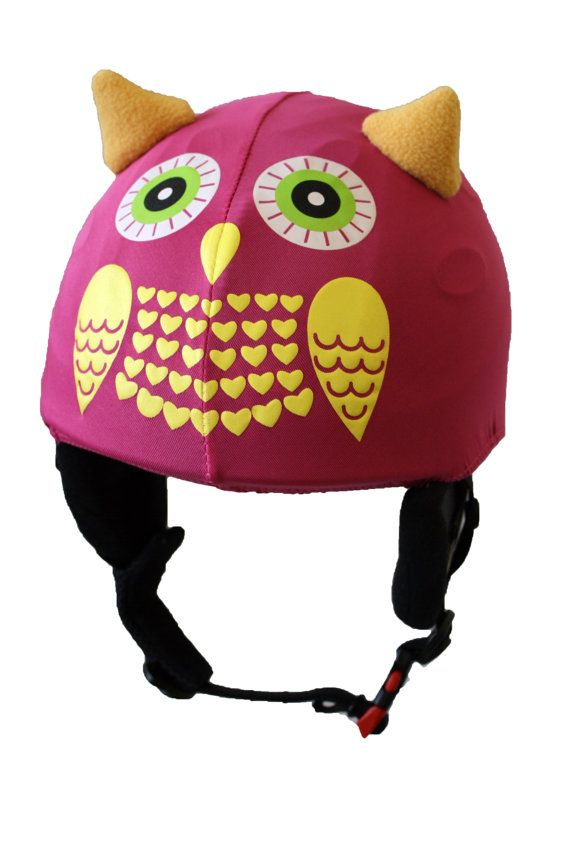 Free shipping: Pink owl children/junior helmet par Helmetcovers