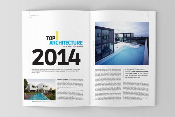 architecture magazine template on behance brochure and graphic