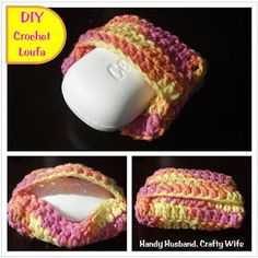 Crochet Loofa (more Like A Bar Soap Holder) Pattern. Cute And Easy, But I  Like The Drawstring One Better. This One Just Needs To Be Done With  Polyester To ...