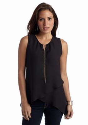 New Directions  Woven Tulip Tank