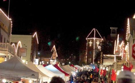 All Of Nevada City Is Aglow For A Victorian Christmas Celebration In This File Photo As Businesses Have Lights Strun Nevada City California Nevada City Nevada