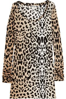 7d77d8fbf101 leopard-print jersey top | My Style | Tops, How to wear, Dresses