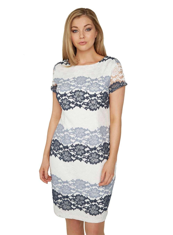 9985cd9050f2 Roman Originals Grey Tonal Lace Dress | Products | Floral lace dress ...