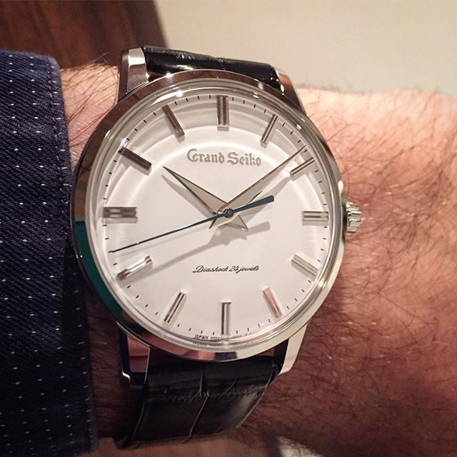 REPOST!!! Grand Seiko SBGW253G on my wrist at Baselworld   so classic and  beautiful  seikowatchofficial  seikowatchusa  seikowatchjapan  seikowatchuk  ... da97544519579