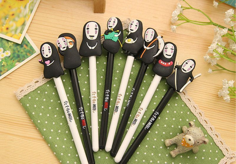 Set of 8 Gel Ink Pen No Face Spirited Away Kaonashi Doll JP Anime Neutral 0.5mm