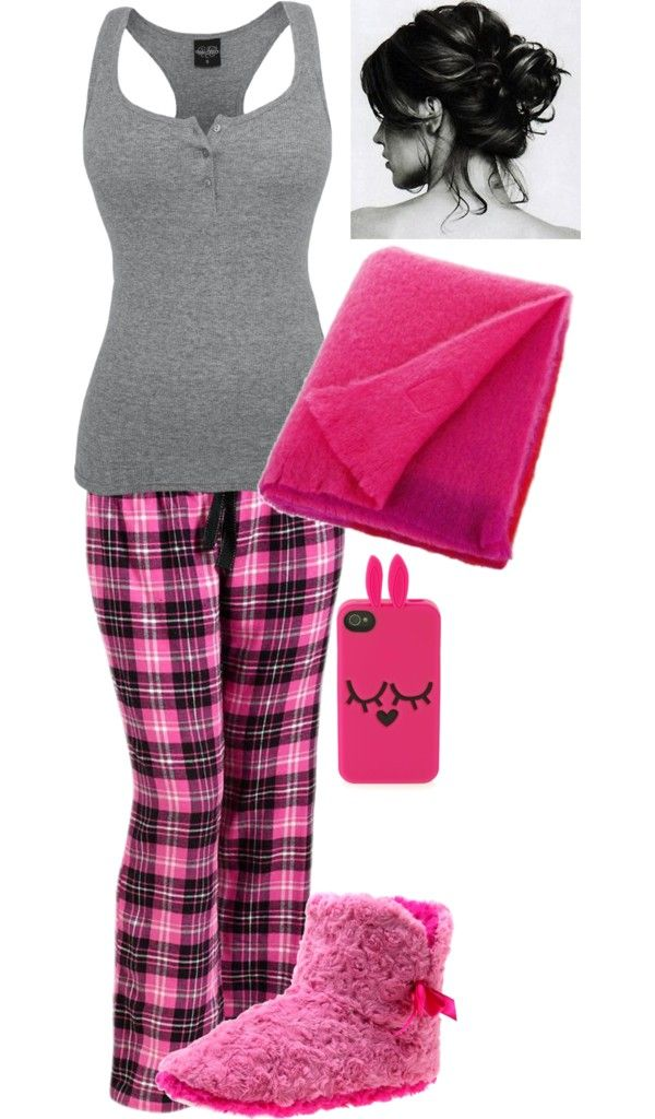 """Pink Pajamas"" by raybird78 ❤ liked on Polyvore"