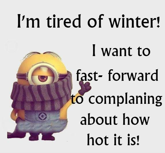 Sick Of Winter Just Saying Minions Quotes Minion Jokes Quotes