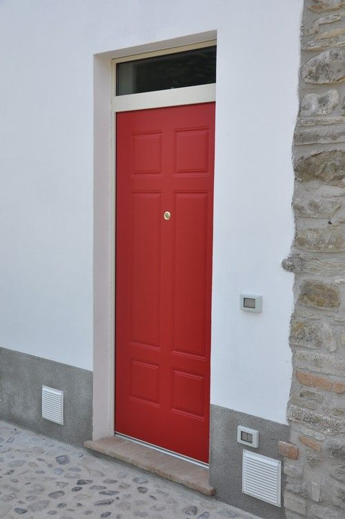 Sferagroup Gallery Product   Red Pantographed External Covering For Armoured  Door