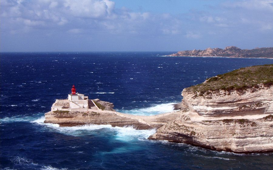 The Lighthouse of Bonifacio, Corsica (France)