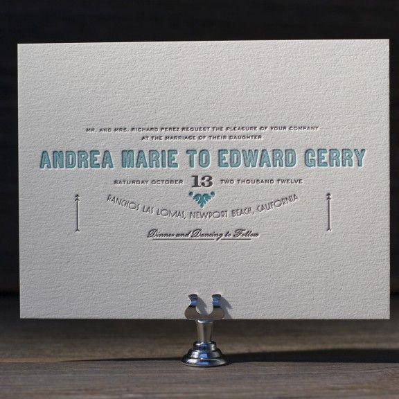 Carte De Visite Letterpress Wedding Invitation By Benjamin Whitla For Bella Figura Customize Yours With