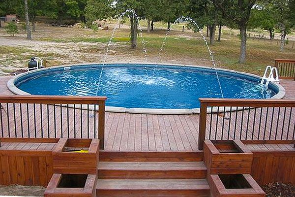 10 More Awesome Above Ground Pool Deck Designs Spp Inground Pool Deck Idea Pinterest