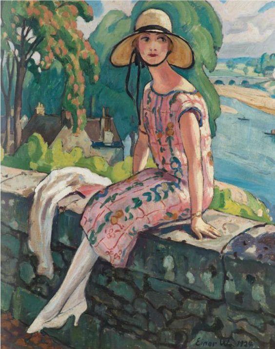 Womeninarthistory Einar Wegener 1924 Malerier