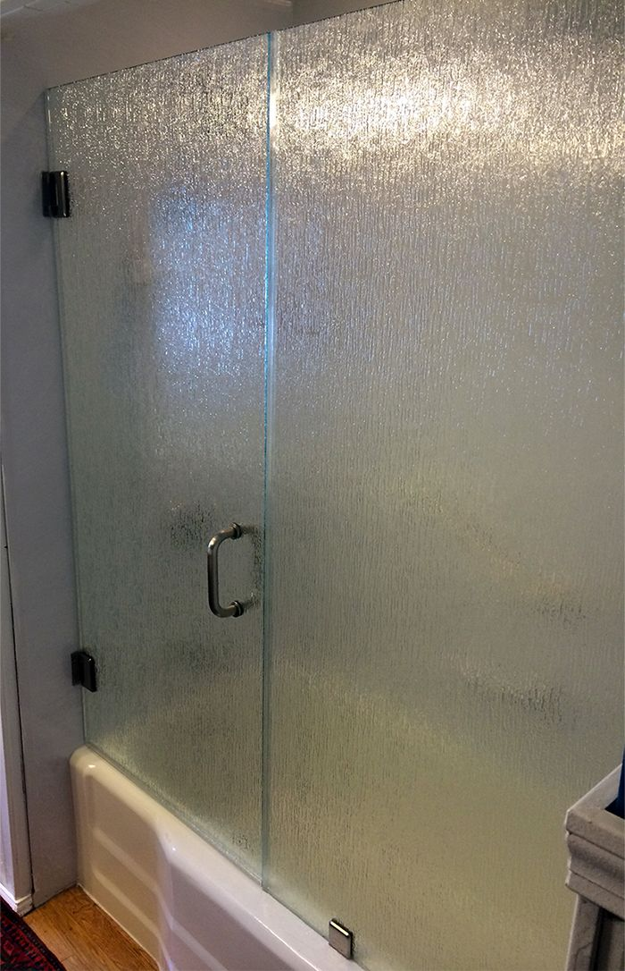 Frameless Shower Door 3 8 Thick Rain Glass With Brushed Nickel