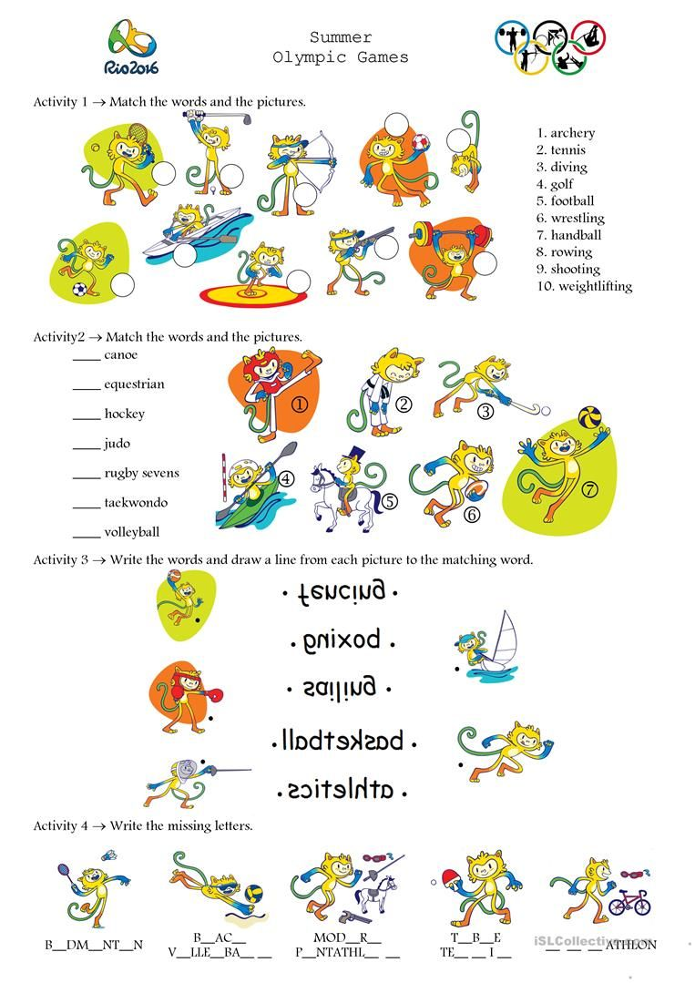Olympic Games Rio 2016 English Esl Worksheets For Distance Learning And Physical Classrooms Olympic Games Rio 2016 Olympics [ 1079 x 763 Pixel ]