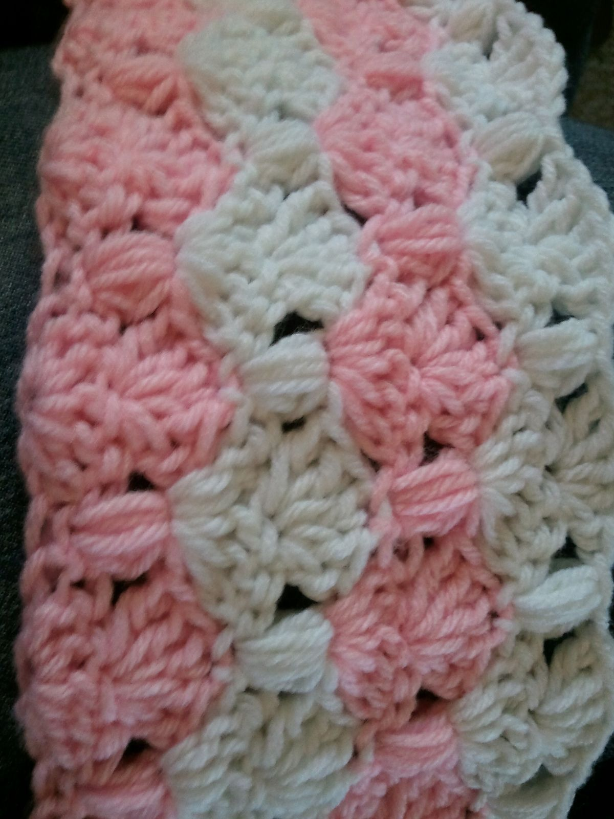 Ravelry: Peppermint Puff Baby Blanket by Kim Biddix