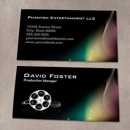 Film production manager director producer cutter business card customizable film production manager director producer cutter business card colourmoves