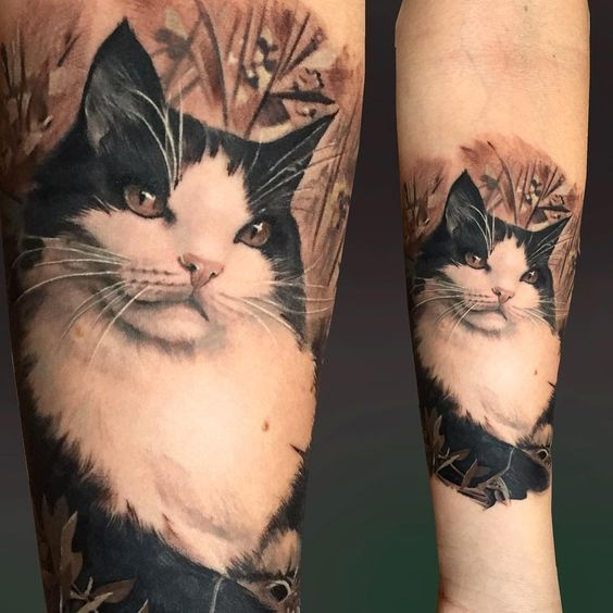 realistic cat tattoo on arm best tattoo ideas gallery. Black Bedroom Furniture Sets. Home Design Ideas