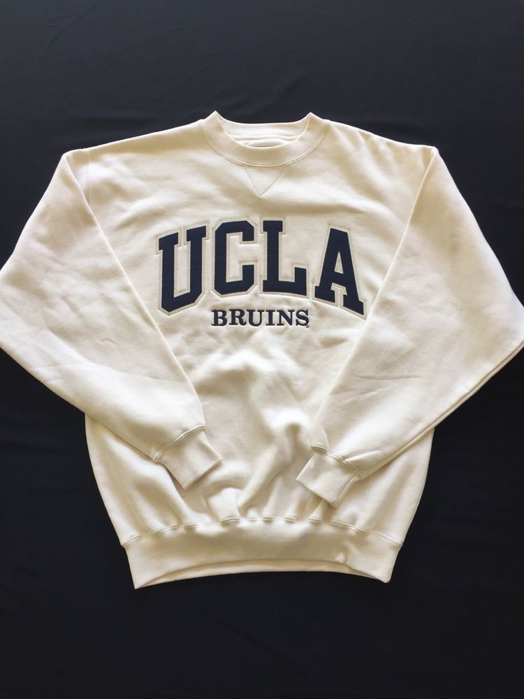 detailed look a60be 19b50 UCLA Bruins Big Cotton Gear White Sweatshirt Men's Small ...