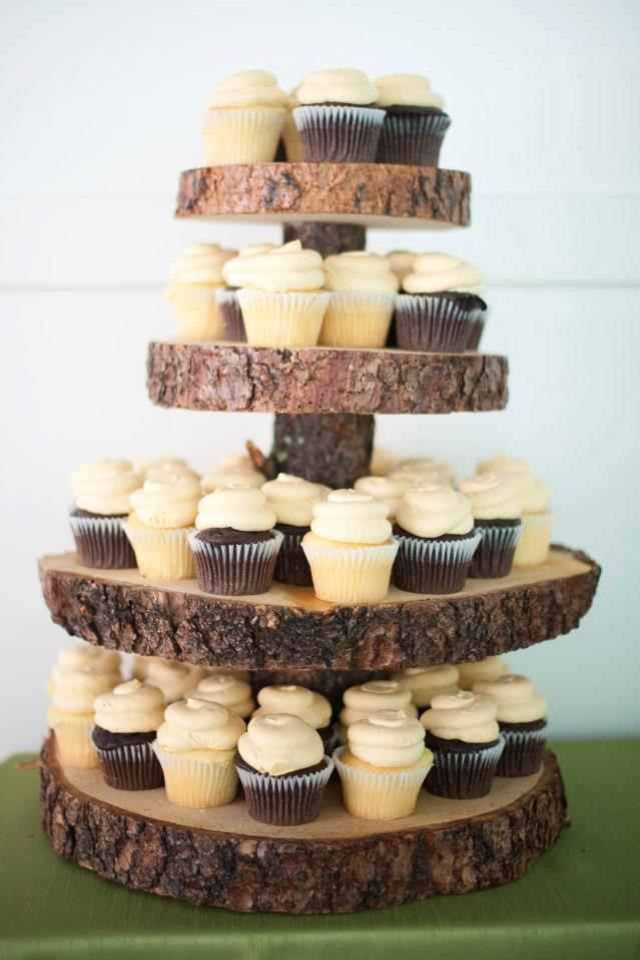 Wooden Cupcake Stand Side Yard Cupcake Cakes Wedding Cakes