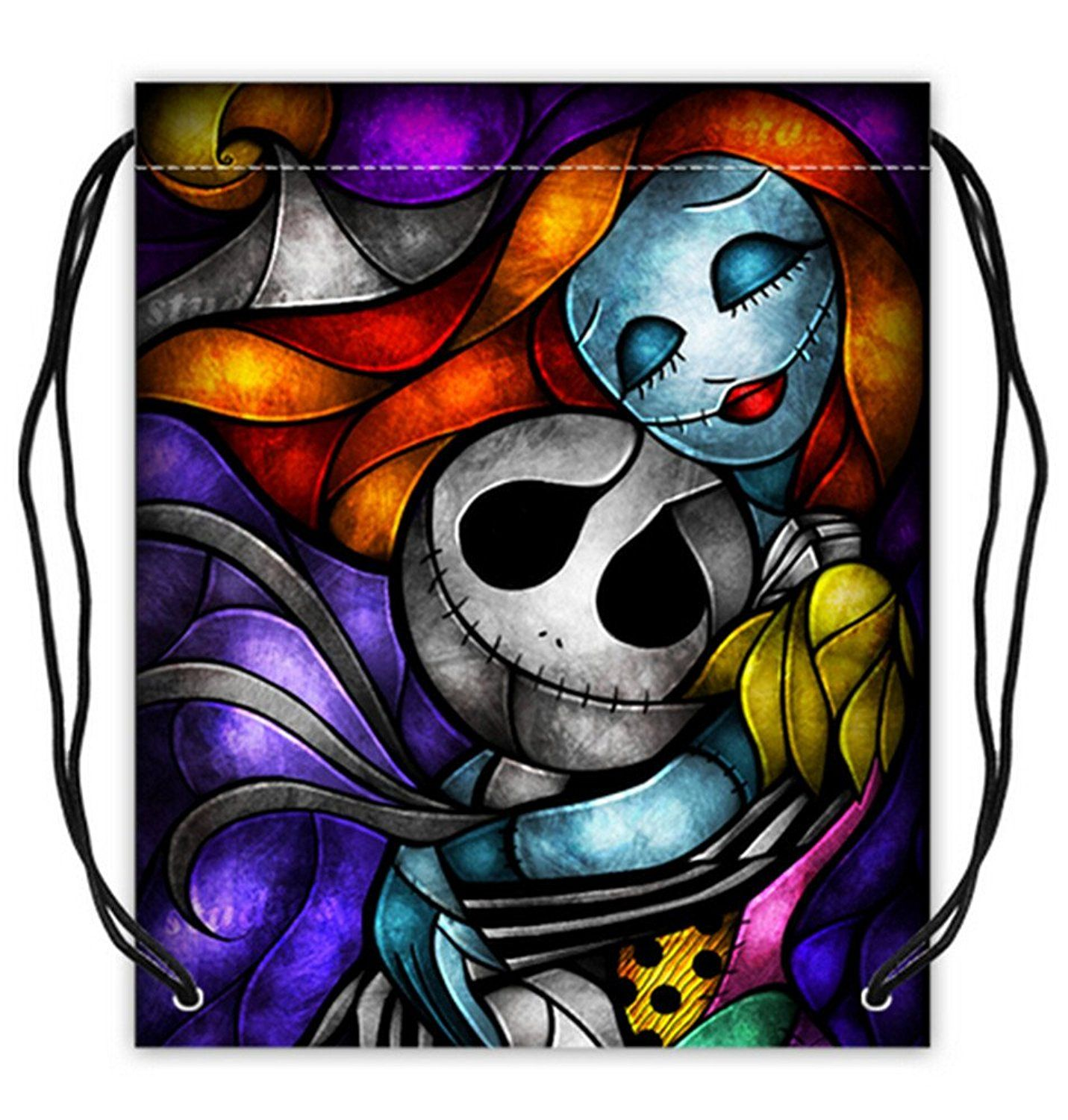 The Nightmare Before Christmas Pattern Polyester Fabric Basketball Drawstring Bags >>> New and awesome product awaits you, Read it now  : Christmas Luggage and Travel Gear