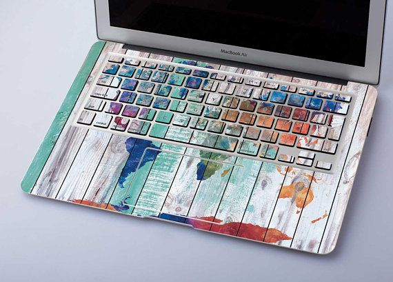 new concept abc39 282b1 Wood Map Decal Keyboard Skin Macbook Pro 15 Decal Macbook Air 11 ...