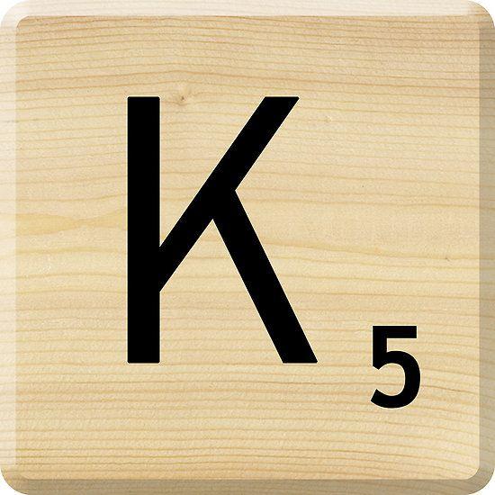 scrabble letter k by scrabbler redbubble letters