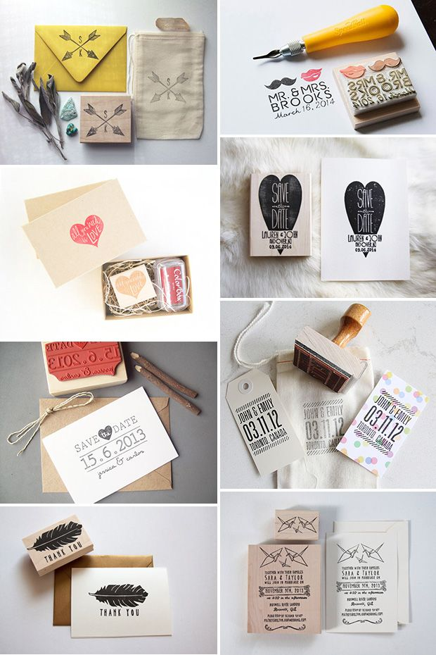 A DIY Dream: Wedding Stamp Ideas | Wedding trends, Inspiration and ...