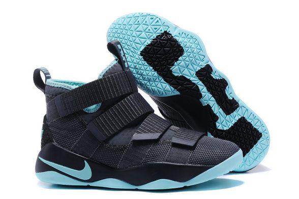 aef5d84b345 Wholesale Cheap Lebron Soldier Nike Lebron Soldier 11 Black Grass Green -  www.hoopfetch.com
