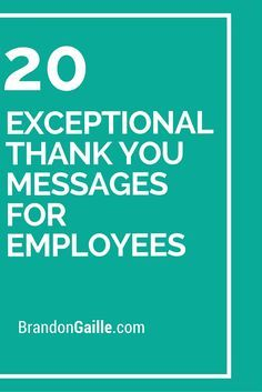 21 exceptional thank you messages for employees messages employee